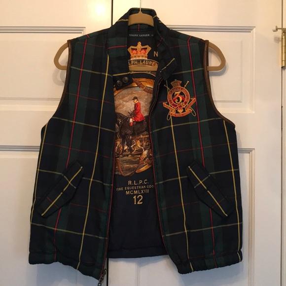 52bd73257 Ralph Lauren plaid vest. M 5ae6414131a376ad7ebcbf71